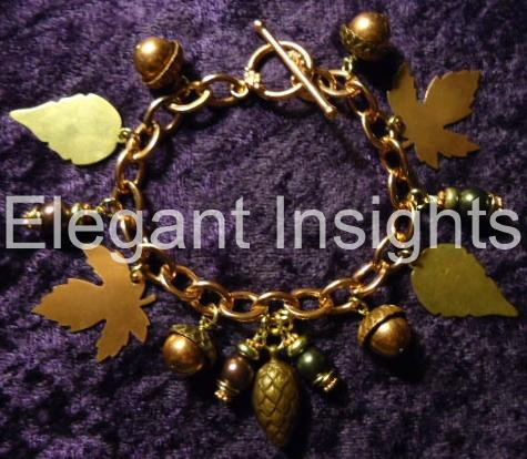 Scattered Leaves Charm Bracelet