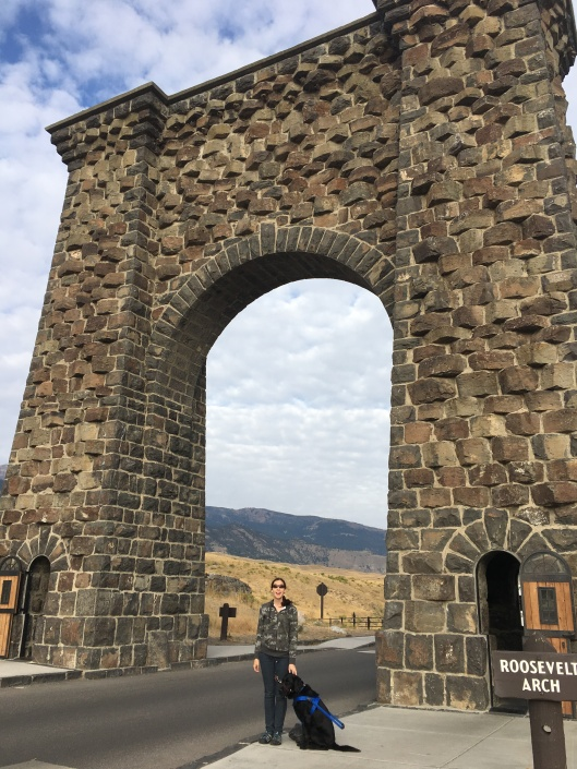 Me in Front of the Roosevelt Arch, the Entrance to Yellowstone National Park